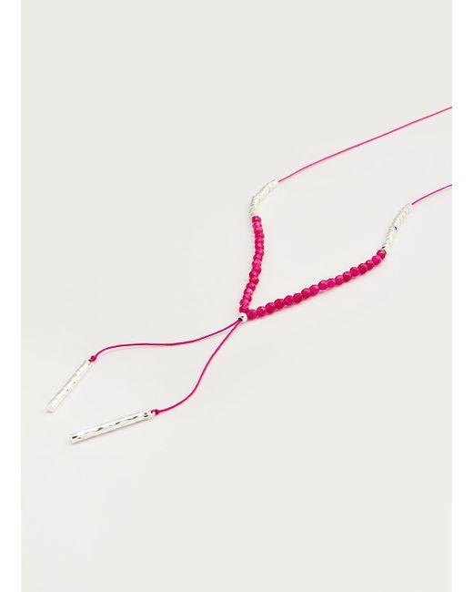 Gorjana & Griffin   Metallic Power Gemstone Pink Jade Necklace For Dream   Lyst