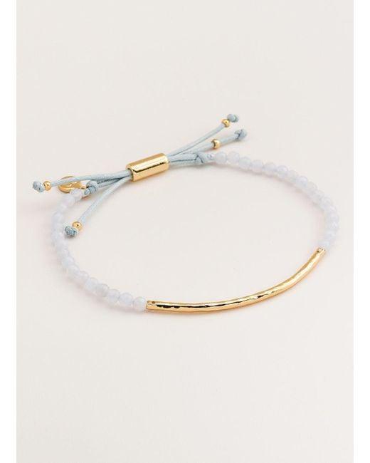 Gorjana & Griffin - Metallic Power Gemstone Blue Lace Agate Bracelet - Lyst