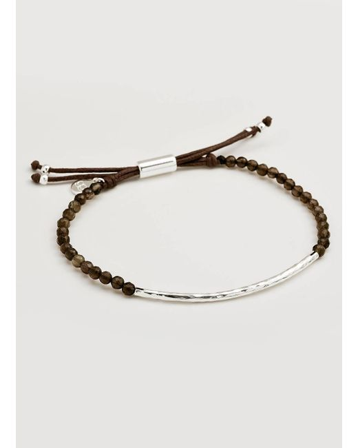Gorjana & Griffin - Metallic Power Gemstone Smoky Quartz Bracelet For Grounding - Lyst