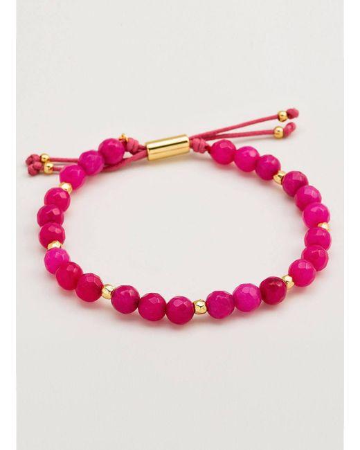 Gorjana & Griffin - Metallic Power Gemstone Pink Jade Beaded Bracelet For Dream - Lyst