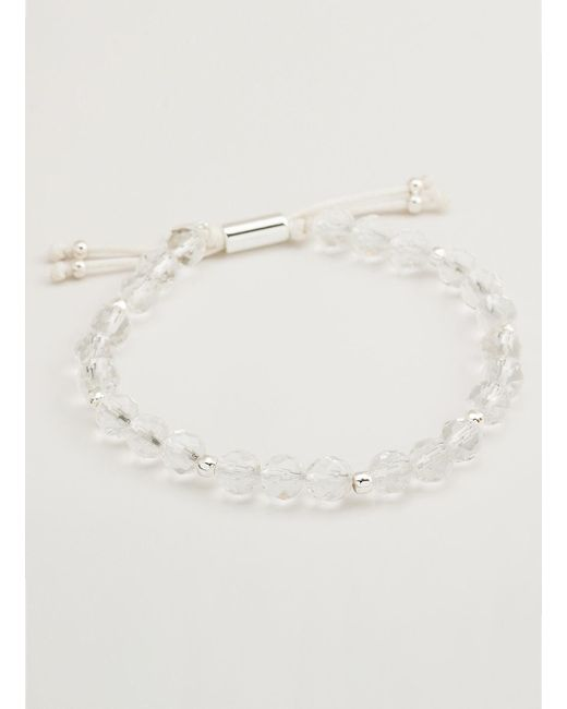 Gorjana & Griffin | Metallic Power Gemstone Crystal Quartz Beaded Bracelet For Clarity | Lyst
