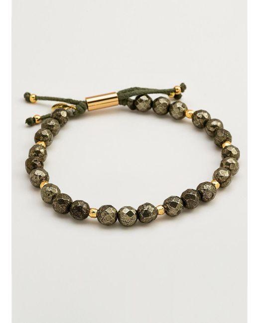 Gorjana & Griffin - Metallic Power Gemstone Pyrite Beaded Bracelet For Strength - Lyst