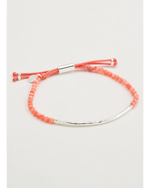 Gorjana & Griffin - Metallic Power Gemstone Pink Coral Bracelet For Harmony - Lyst