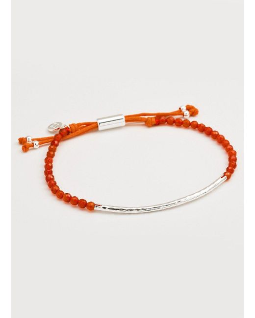 Gorjana & Griffin - Metallic Power Gemstone Orange Agate Bracelet For Confidence - Lyst