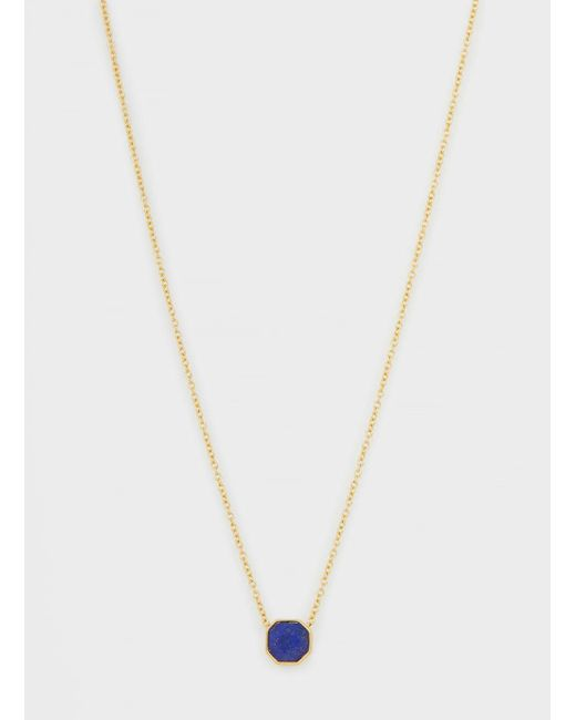 Gorjana & Griffin - Metallic Power Gemstone Charm Lapis Adjustable Necklace - Lyst