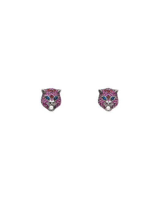 Gucci | Pink Le Marché Des Merveilles Earrings | Lyst