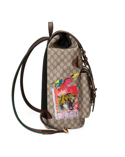 ... Gucci - Natural Courrier Soft GG Supreme Backpack for Men - Lyst ... f52fc0a670