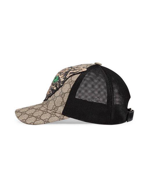 7d39ee76963c5 Gucci Gg Supreme Mystic Cat Baseball Hat in Black for Men .