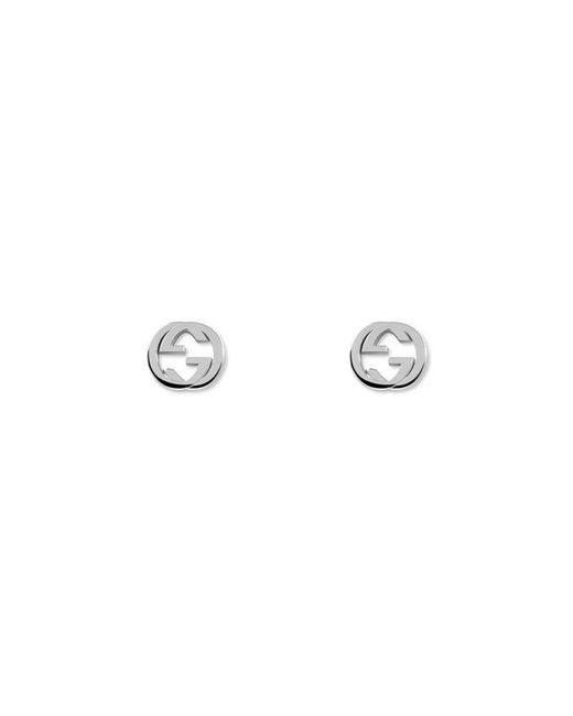 Gucci - Metallic Interlocking G Earrings In Silver - Lyst