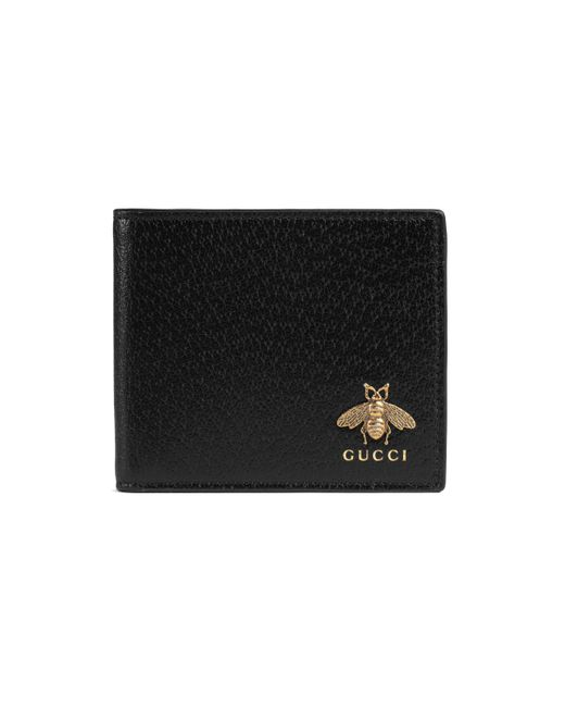 Gucci - Black Animalier Leather Wallet for Men - Lyst
