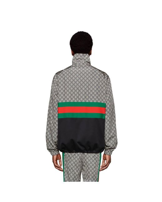 d5990ea2ca11 ... Gucci - Green Oversize Technical Jersey Jacket for Men - Lyst ...
