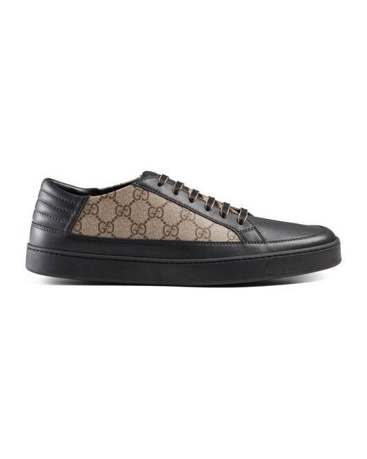 Gucci | Black Gg Supreme Sneaker for Men | Lyst
