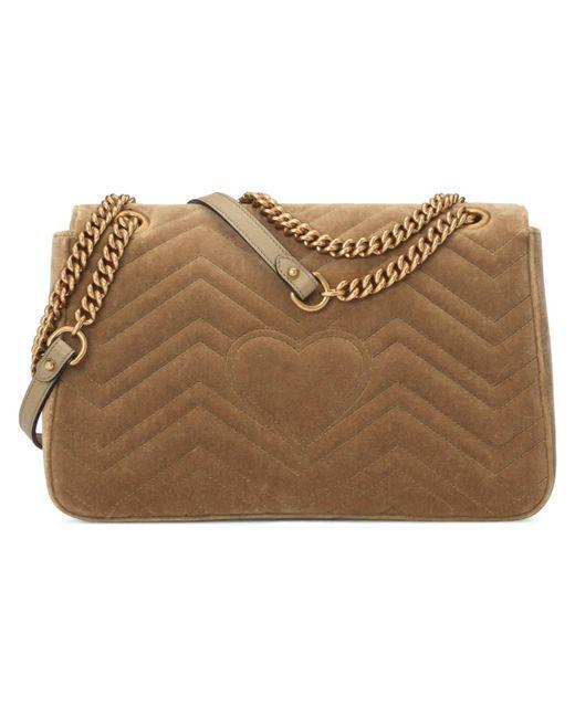 a380672017f514 ... Gucci - Multicolor GG Marmont Velvet Medium Shoulder Bag - Lyst ...