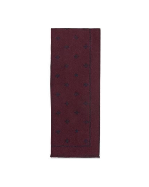Gucci - Brown Wool Scarf With Bees And Stars for Men - Lyst