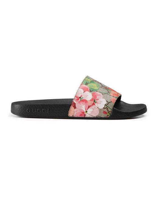 Gucci | Multicolor Gg Blooms Supreme Slide Sandal | Lyst