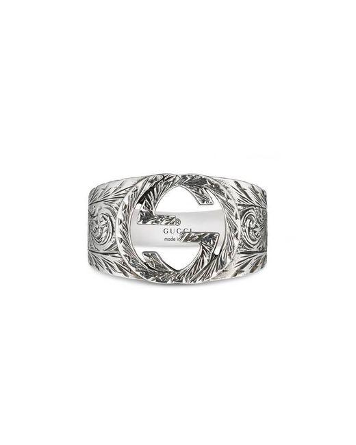 Gucci | Metallic Interlocking G Ring | Lyst
