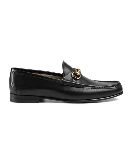 Gucci | Black 1953 Horsebit Leather Loafer for Men | Lyst