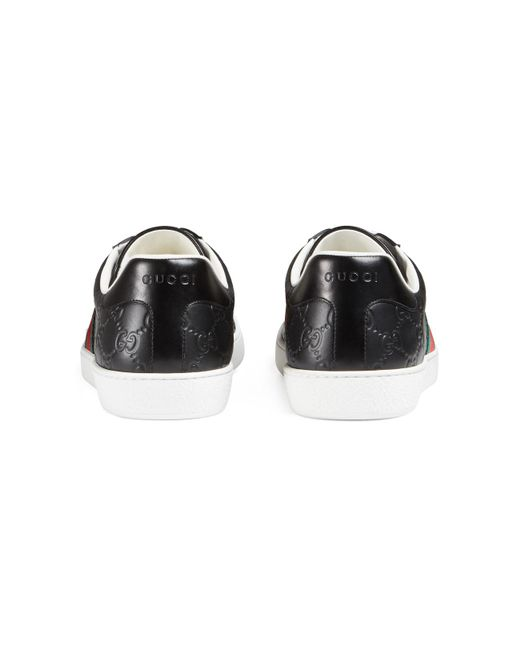 b15a4d5e601 ... Gucci - Green Ace Signature Sneaker for Men - Lyst ...