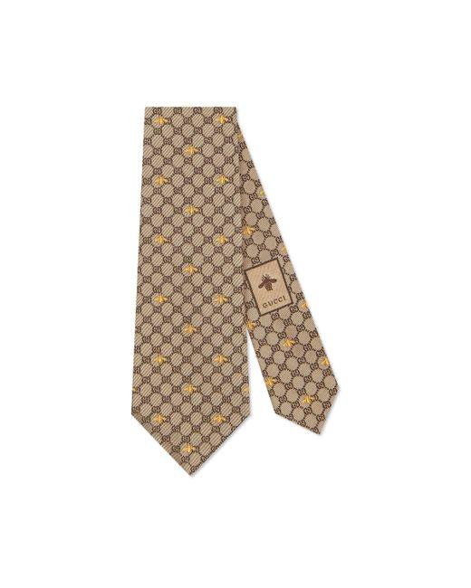Gucci - Natural Corbata de Seda con GG y Abejas for Men - Lyst
