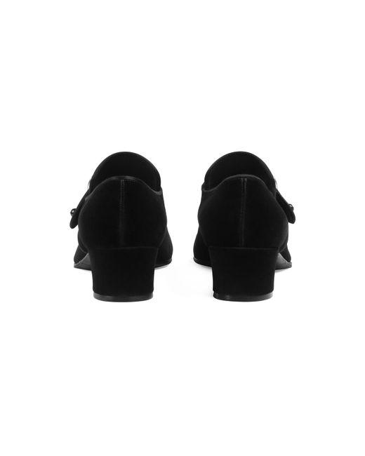 1347ff4996a ... Gucci - Black Velvet Loafer With Jewel Buckle for Men - Lyst ...