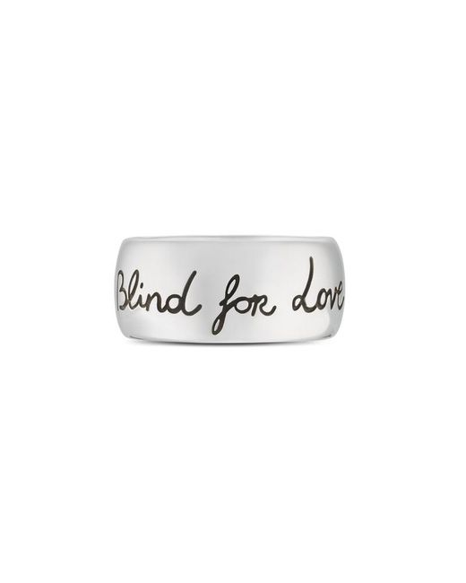 Gucci | Metallic Blind For Love Ring In Silver | Lyst