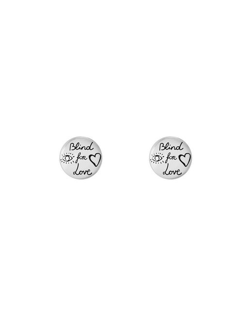 Gucci   Metallic Blind For Love Earrings In Silver   Lyst