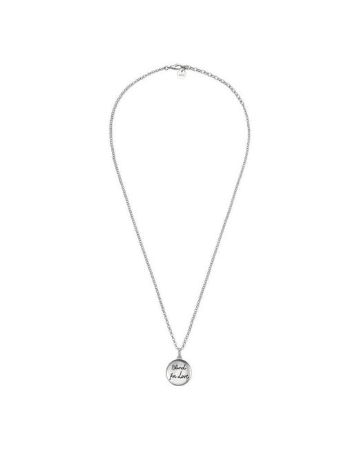 Gucci | Metallic Blind For Love Necklace In Silver | Lyst