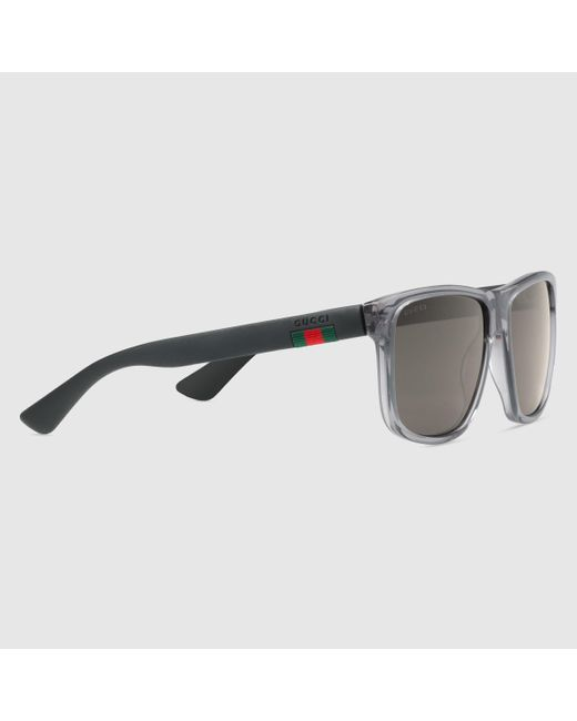 eeed93f8eed Gucci Men s Square Acetate Frame Sunglasses