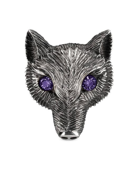 Gucci | Metallic Fox Head Ring With Crystals | Lyst