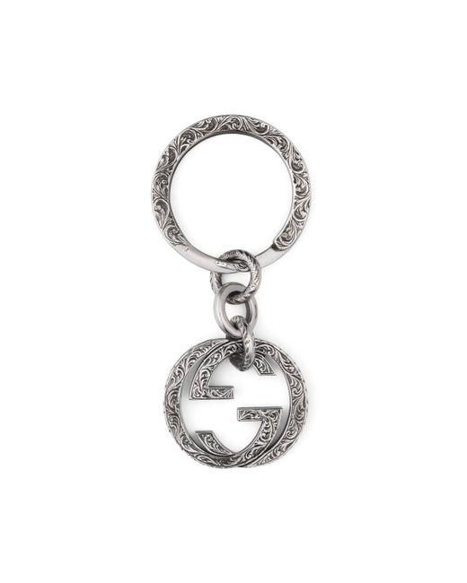 Gucci - Metallic Interlocking G Key Ring - Lyst