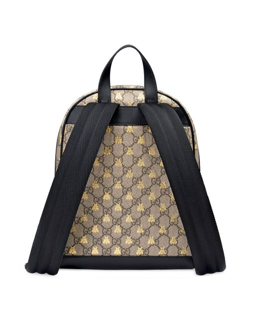 da7ee69e1c0042 ... Gucci - Natural GG Supreme Bees Backpack - Lyst