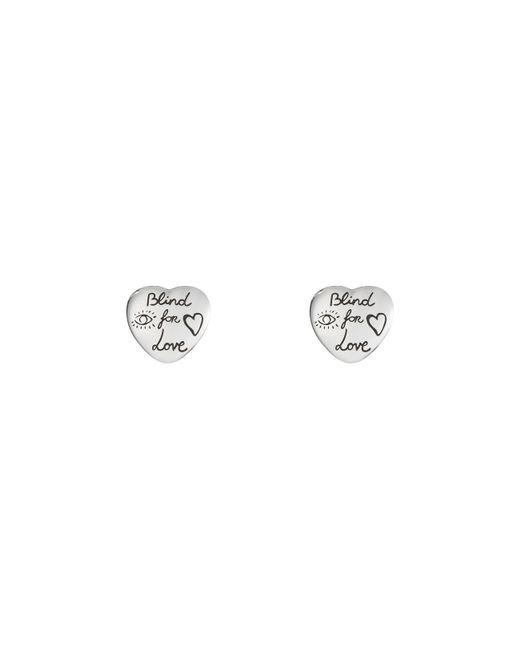 Gucci - Metallic Blind For Love Earrings In Silver - Lyst