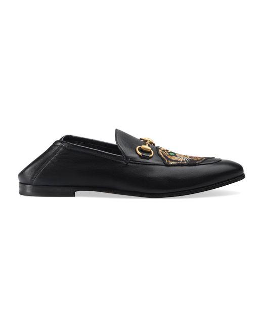 Gucci - Black Mocasín de piel con serpiente real for Men - Lyst