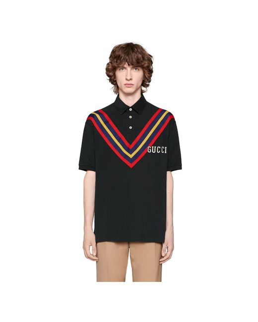 436d371e ... Lyst Gucci - Black Men's Polo With Pittsburgh Piratestm Patch for Men  ...