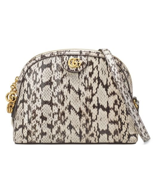 Gucci - White Ophidia Small Snakeskin Shoulder Bag - Lyst