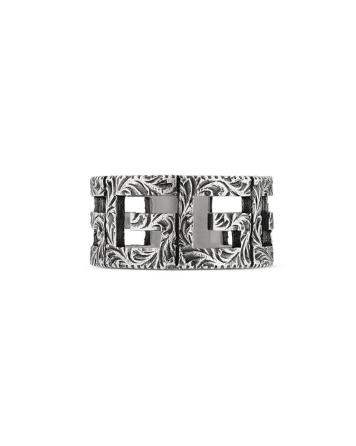 Gucci - Metallic Ring With Square G Motif In Silver for Men - Lyst