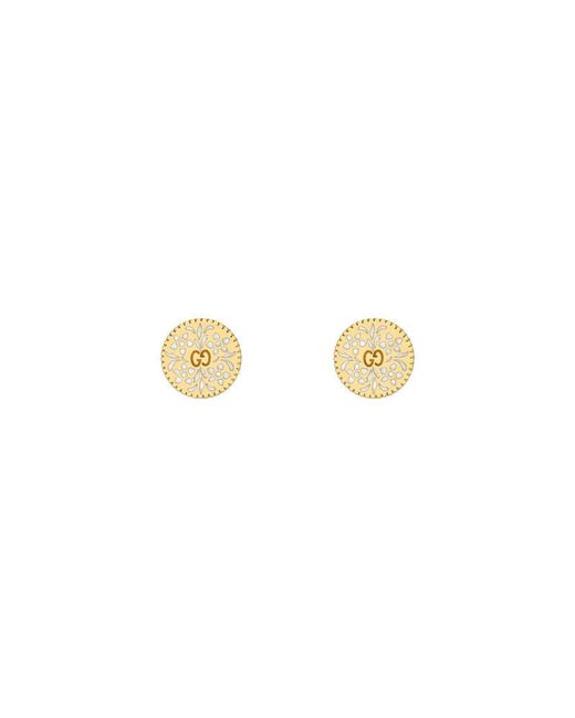 Gucci - Metallic Icon Earrings In Yellow Gold - Lyst
