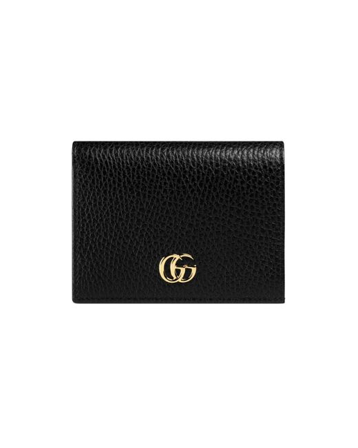 5ace345fae24 Gucci - Black Leather Card Case - Lyst ...