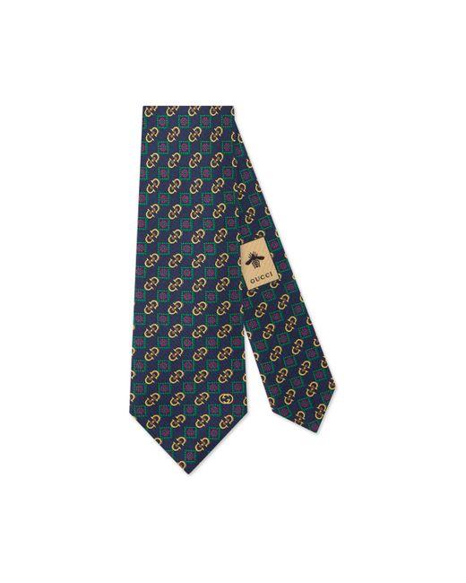 Gucci - Blue Corbata con motivo Horsebit for Men - Lyst