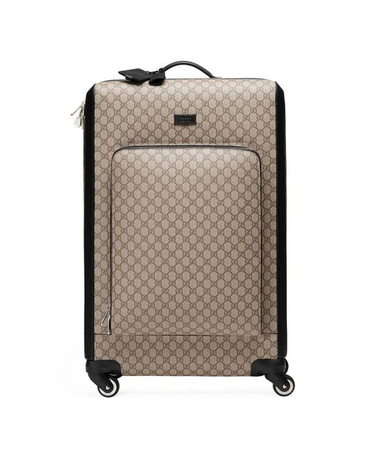 Gucci - Natural GG Supreme Suitcase for Men - Lyst