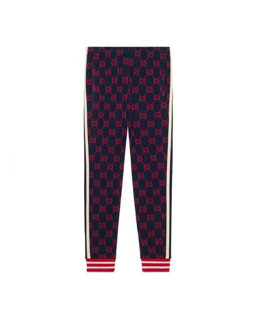 Gucci - Blue Pantalón de Chándal de Jacquard GG for Men - Lyst
