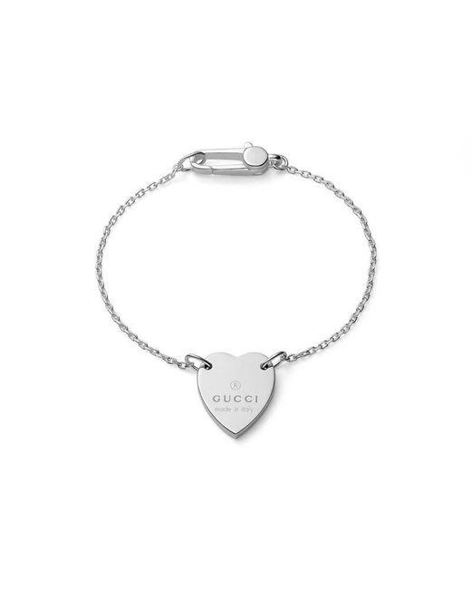 Gucci - Metallic Bracelet With Trademark Heart for Men - Lyst