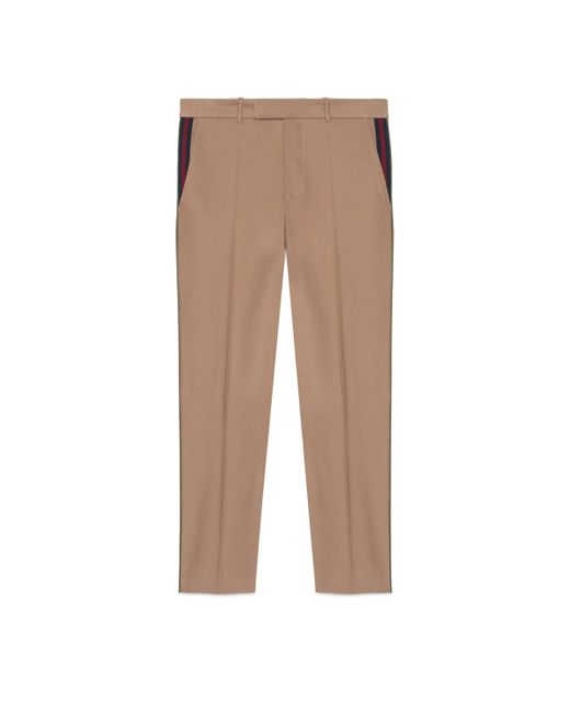 Gucci - Natural Cotton 60s Pant With Web for Men - Lyst