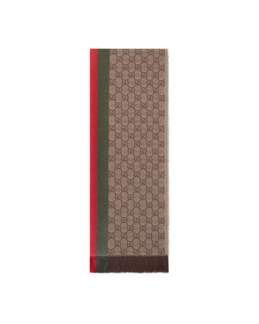 Gucci - Natural Écharpe tricotée jacquard motif GG for Men - Lyst