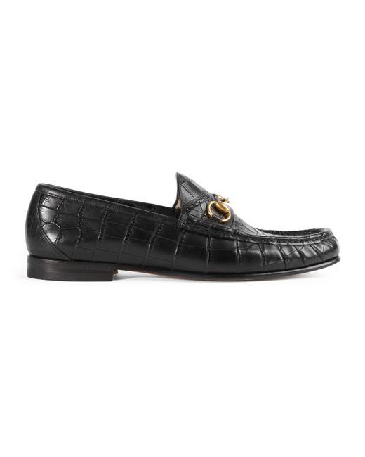 Gucci - Black Mocasín 1953 Horsebit de cocodrilo for Men - Lyst