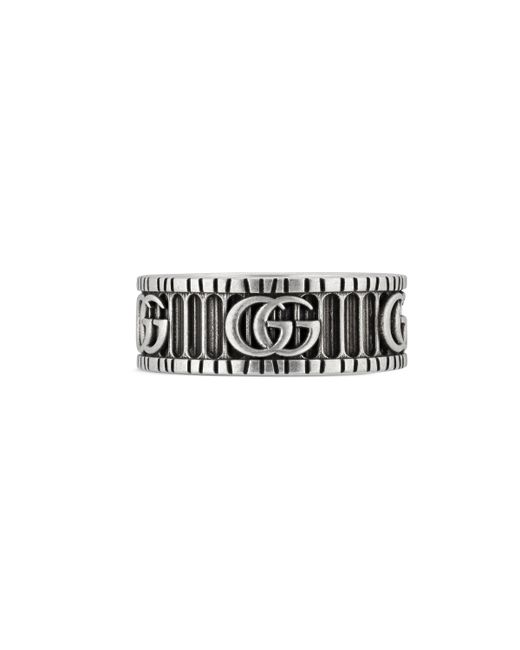 Gucci - Metallic Doppel G Ring aus Silber for Men - Lyst