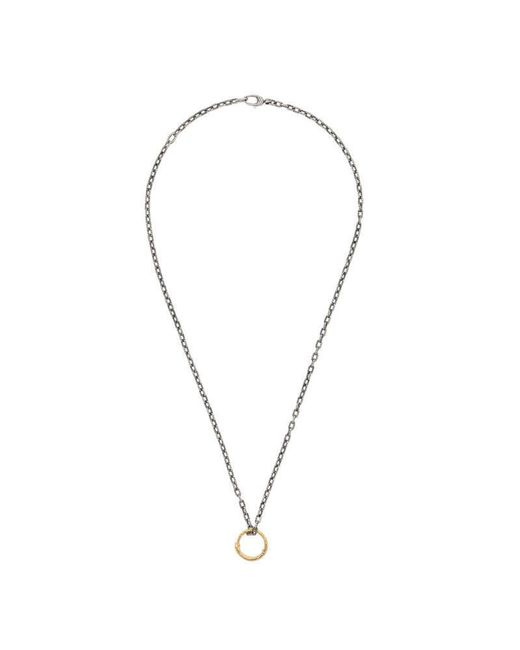 Gucci | Metallic Snake Ring Pendant Necklace In Gold | Lyst