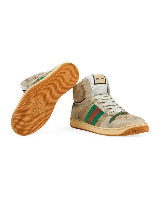 e6c158a2a95b ... Lyst Gucci - Orange Men s Screener GG High-top Sneaker for Men ...