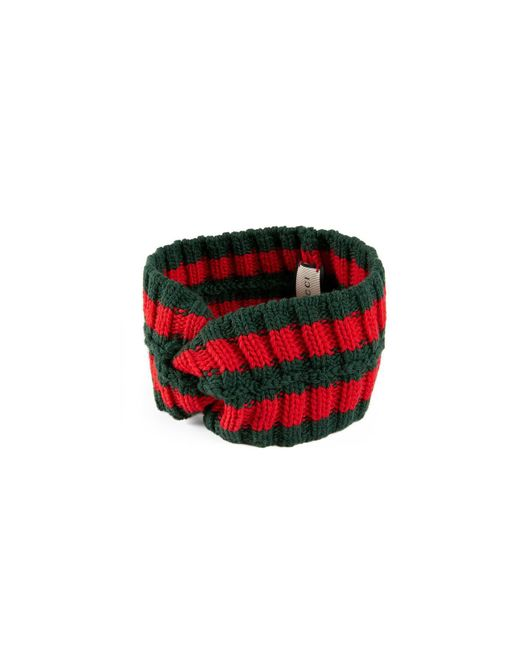 ac4cc341c44 Lyst - Gucci Wool Web Headband in Green - Save 23%