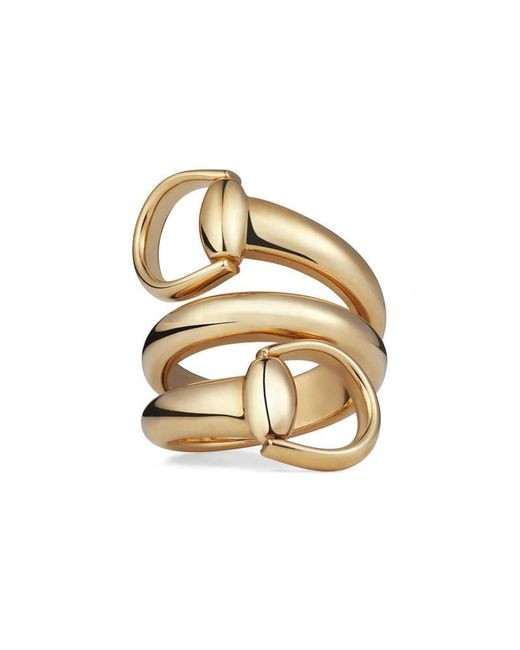 Gucci | Metallic Horsebit Ring | Lyst